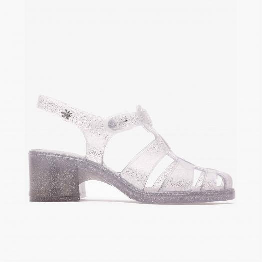 Women sandals Méduse Nikita Silver Glitter