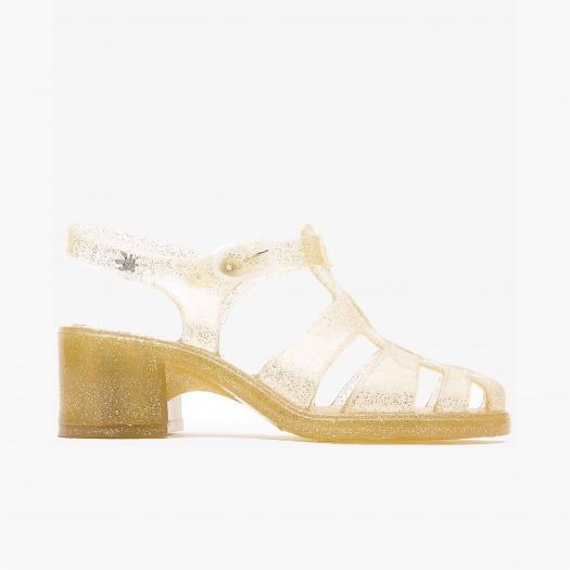 Women sandals Méduse Nikita Gold Glitter