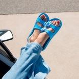 Women sandals Méduse Mambo Cyan