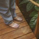Women sandals Méduse Sunmif Silver Glitter