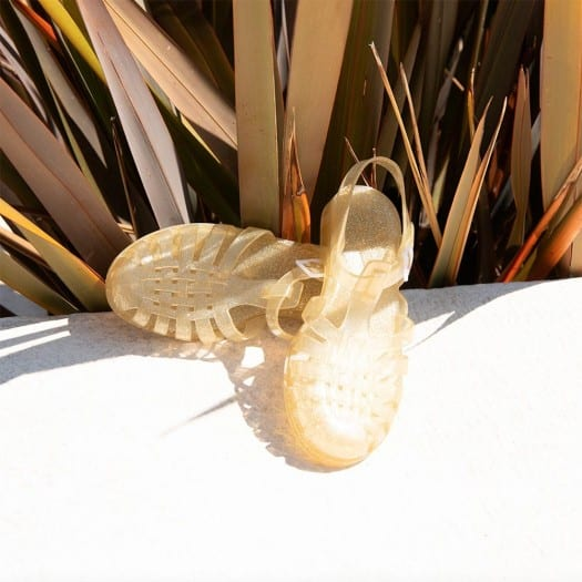 Mens sandals Méduse Sun Gold Glitter