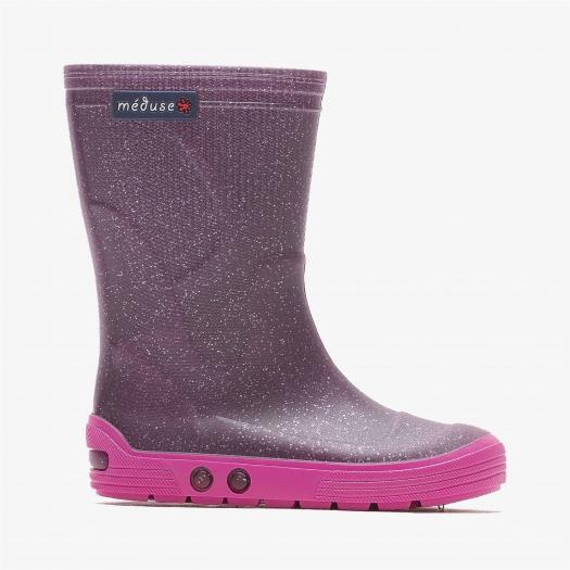 Childrens high boots Méduse Airbus Glittery purple/Fuchsia