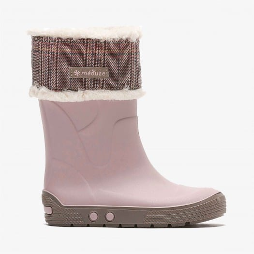 Childrens high boots Méduse Aircol Dusty Pink/Taupe