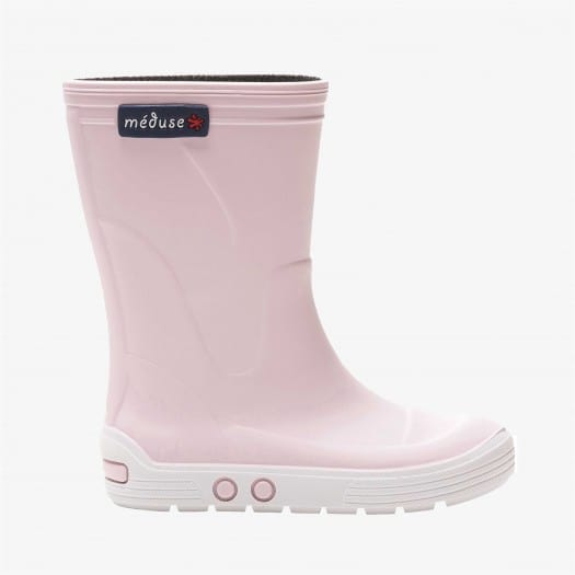 Childrens high boots Méduse Airport Pastel Pink/White