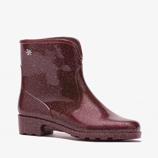 Womens low boots Méduse Camapail Glitter Burgundy