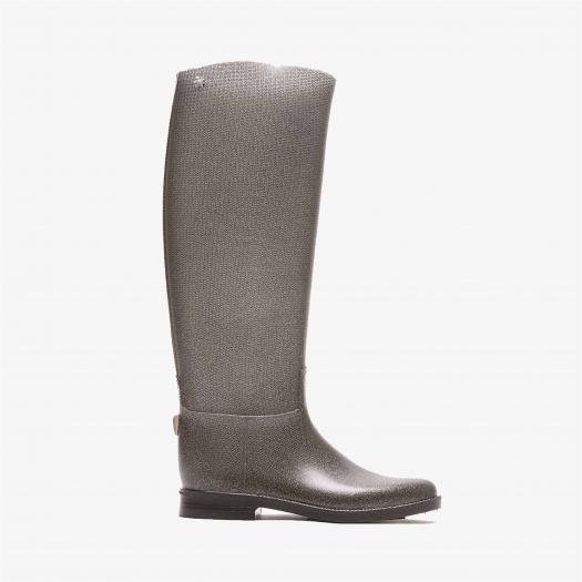 Womens high boots Méduse Flampail Silver Glitter