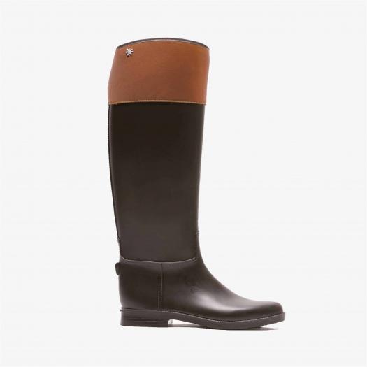 Womens high boots Méduse Flancuir Brown