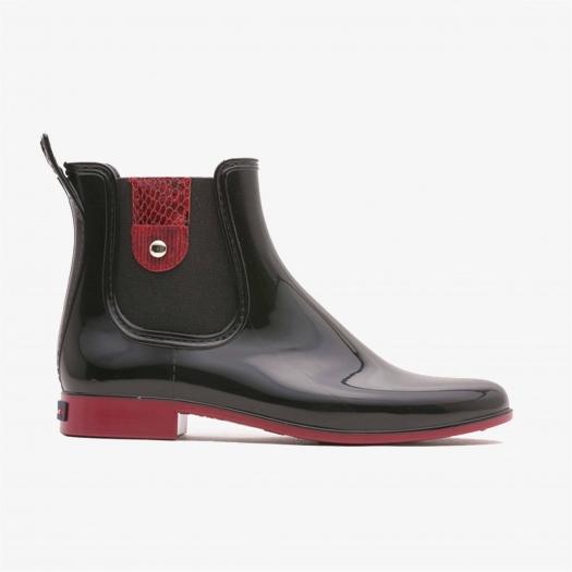Womens low boots Méduse Japanou Black/Dark red