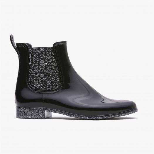 Womens low boots Méduse Japtri Black/Silver Glitter