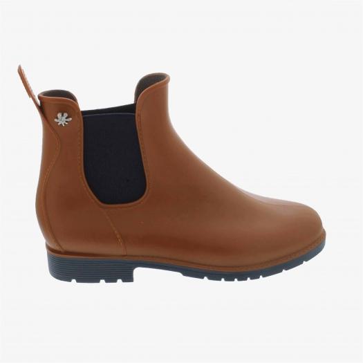 Womens low boots Méduse Jumpy Caramel/Blue