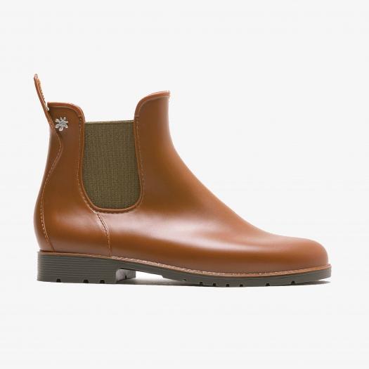 Womens low boots Méduse Jumpy Caramel/Khaki