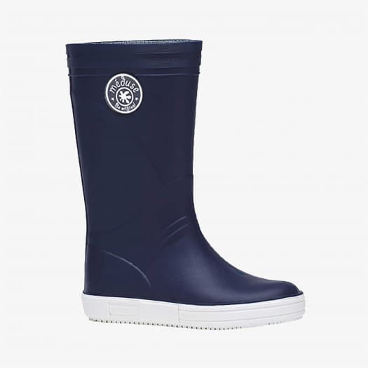 Womens high boots Méduse Skippy Navy Blue/White