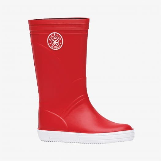 Childrens high boots Méduse Skippy Red/White