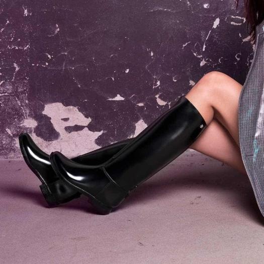 Womens high boots Méduse Flambor Patent Black