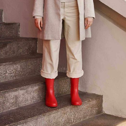 Womens high boots Méduse Flambor Red