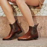 Womens low boots Méduse Japatine Caramel/Brown