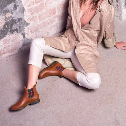 Womens low boots Méduse Jumpscot Caramel/Khaki