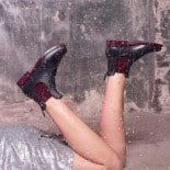 Womens low boots Méduse Jumpy Anthracite/Burgundy