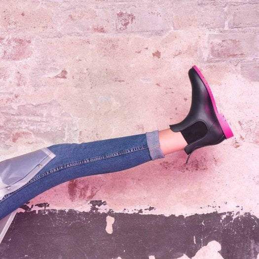 Womens low boots Méduse Jumpy Anthracite/Fuchsia
