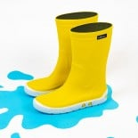 Childrens high boots Méduse Airport Yellow/White