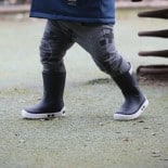 Childrens high boots Méduse Airport Navy/White