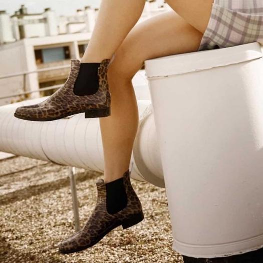 Womens low boots Méduse Japlou panther