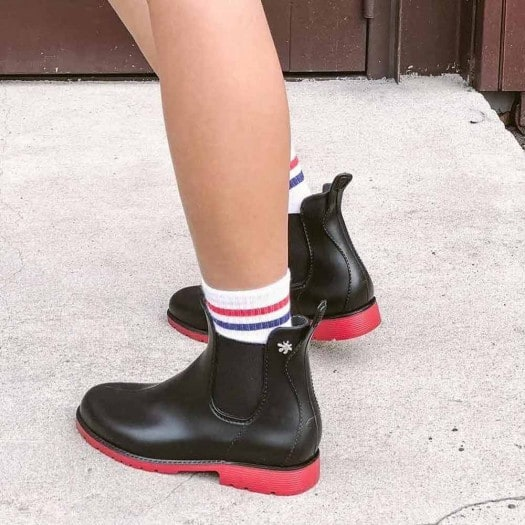 Womens low boots Méduse Jumpy Black/Red