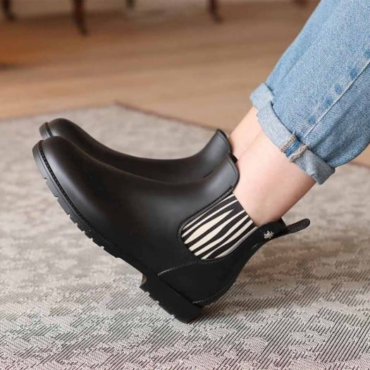 Childrens low boots Méduse Jumpzebr Black