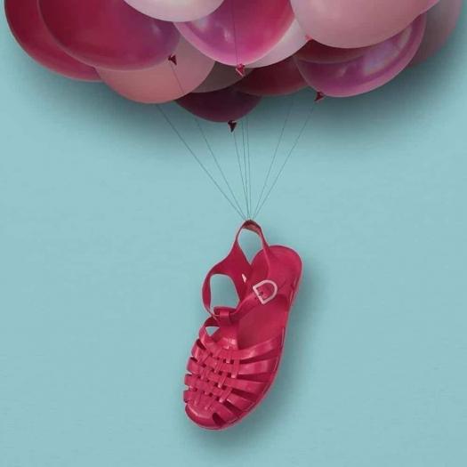 Childrens sandals Méduse Sun Fuchsia