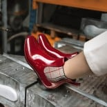 Womens low boots Méduse Japox Dark Red/Black